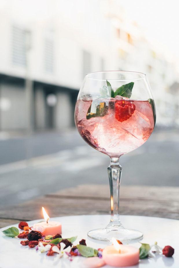 Slingsby rhubarb gin tonica